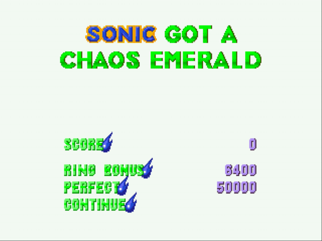 Sonic 3 Complete - first emerald! - User Screenshot